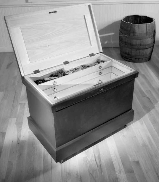Finished tool chest built by Christopher Schwarz